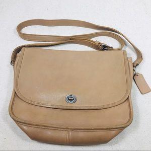 COACH Light Tan Brown Leather City Bag M040-9790